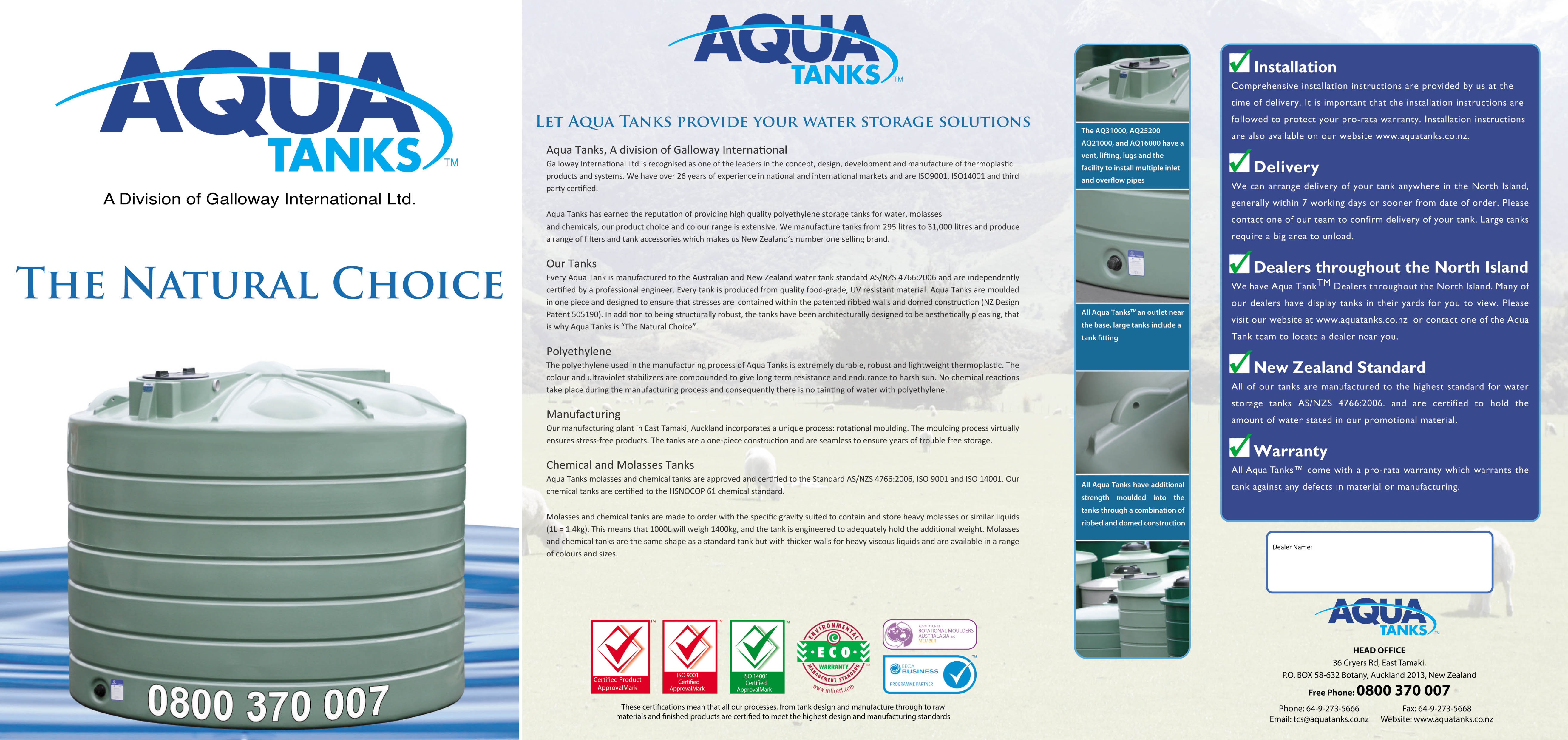 Water Tank Supply And Service We Supply And Install